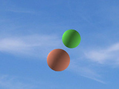 2 balls with sky background