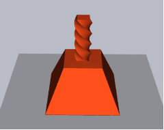 3D pipes sample: Truncated pyramid with twisted handle