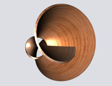 3D pipes sample: Textured Klein surface