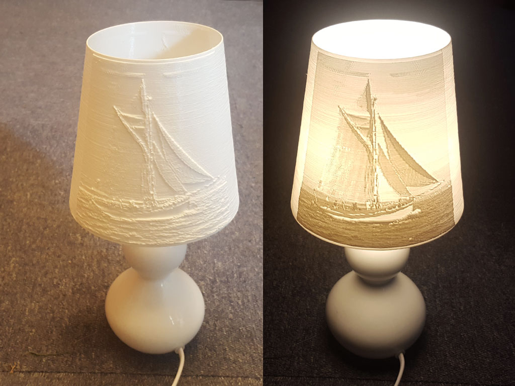 lithophane lampshade