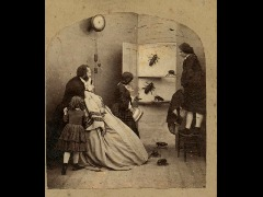 Stereocard depicting an 'Awful Discovery' by Alfred Silvester, c. 1855 - 1860 by Nationalmuseumsscotland