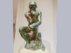 """The Thinker"" by Rodin  by Wtangel"