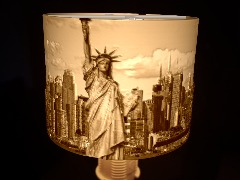 New York lampshade by Chris
