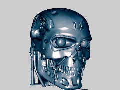 3D Head T-800 OBJ FREE by Kote