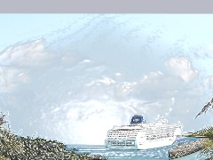 Stormy Ocean Cruise Ship Adventure by Ljbutterfly
