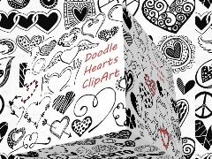 Doodle Hearts by Seven