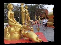 Golden statues by Blaker