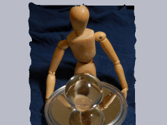 Mannequin Sculpture With Mirror And Lensball by Wtangel