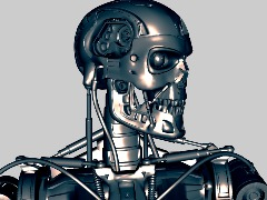 3D Bust TERMINATOR T-800 OBJ FREE by Kote