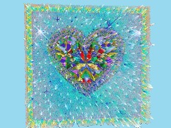 Aqua Sparkle Heart by Remodernist