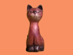 Wooden cat by Chris