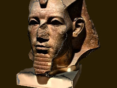 Granite head of Amenemhat III by Alain