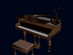 Piano 3D by Doug14