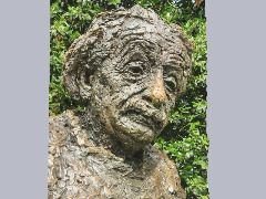 Close-up of the statue honoring Albert Einstein in Washington DC. by Wtangel